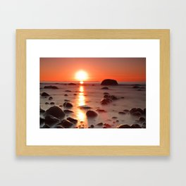 Sunset on the Baltic Sea coast Framed Art Print
