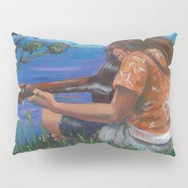 Playing ukulele Pillow Sham