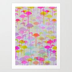 Flamingo Land Art Print