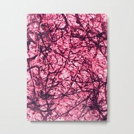Purple Veins Metal Print