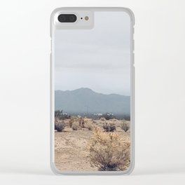 Cloudy Mountain Day Clear iPhone Case