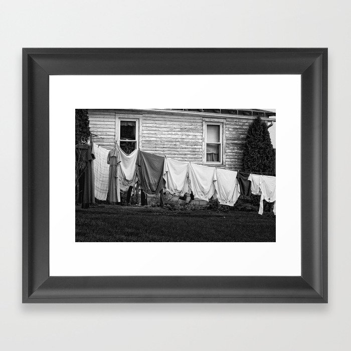 Amish Laundry Framed Art Print