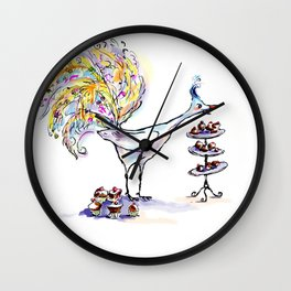Peacock At High Noon Wall Clock