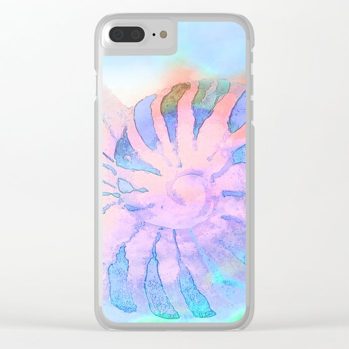 NAUTILUS CONCH SEA SHELL IMPRESSION Clear iPhone Case
