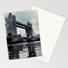 AGED - SUSPENSION - BRIDGE - OVER - RIVER - IN - CITY - PHOTOGRAPHY Stationery Cards