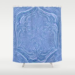 labyrinthe- holy geometry-hand painted Shower Curtain