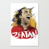 zlatan Canvas Prints featuring Zlatan by Conal Deeney