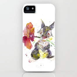 Thumper With Flower iPhone Case