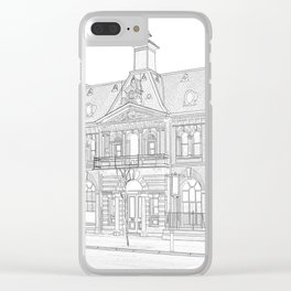 Bar Continental Clear iPhone Case
