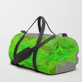 REFRESHING  NATURAL GREEN FERNS  GREY ART Duffle Bag
