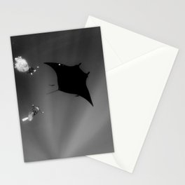 Manta and Divers Stationery Cards