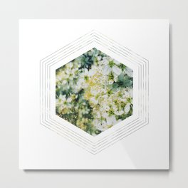 Subtly Flourishing - Hexagon Metal Print