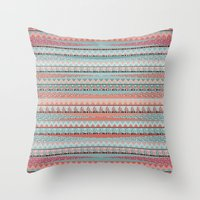 boho Throw Pillows featuring BOHO by Nika