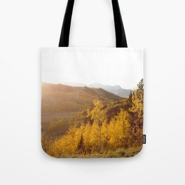 The Golden Fire Just Before Sunset Tote Bag