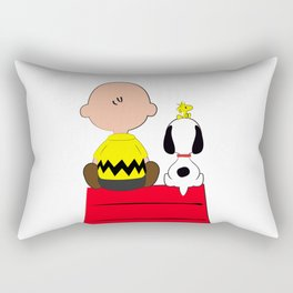 Snoopy's Red House Rectangular Pillow