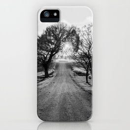 Best Farm Tree Backlit In The Fall iPhone Case