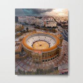 Spain's Bullfighting Ring Metal Print