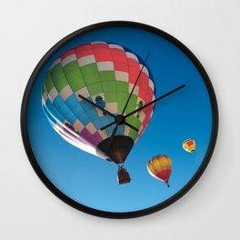 Balloons on Blue Wall Clock