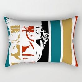 Noam Chomsky Retro Homage Rectangular Pillow