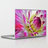 dahlia Laptop & iPad Skins featuring Dahlia by Astrid Ewing