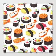 Sushi Pattern Canvas Print