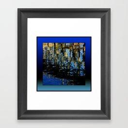 little lost grebe (square) Framed Art Print