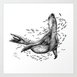 Seal and Fish Art Print
