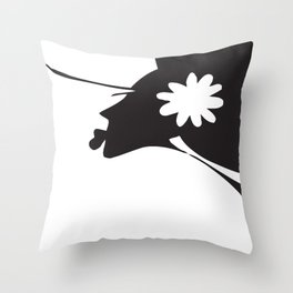 Harlem B/W Throw Pillow