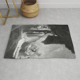 Rembrandt - Lazarus awakens (copy) Rug