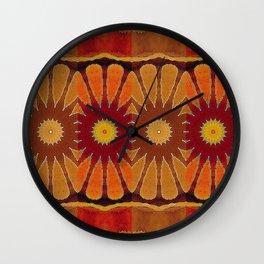 Orange flower pattern daisy Wall Clock