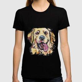 Fun GOLDEN RETRIEVER Dog bright colorful Pop Art T-shirt
