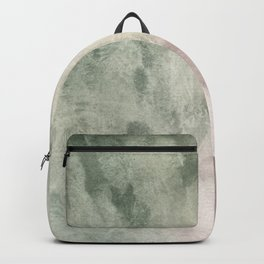 Abstract blush pink green white watercolor brushstrokes Backpack
