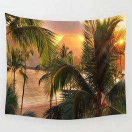 Kauai Tropical Island by OLena Art Wall Tapestry