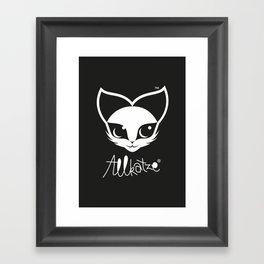 ALLKATZE * Space Cat - Weltraum-Katze - Chat d'Espace Framed Art Print