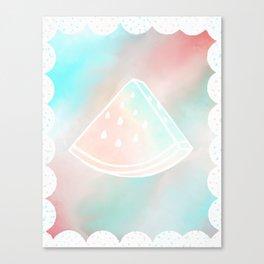 Pretty Melon Canvas Print