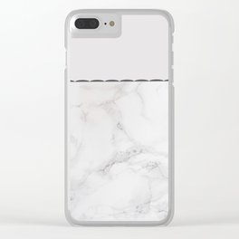 Elegant vintage white gray stylish marble Clear iPhone Case