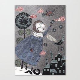 Snow Stars White, Snow Stars Bright Canvas Print