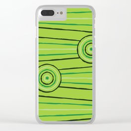 Rainforest Line Painting Clear iPhone Case