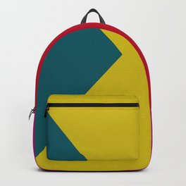 abstract hard edge triangle color Backpack