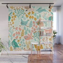 Pastel colors easter pattern Wall Mural