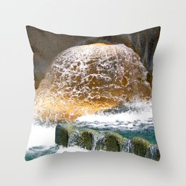 Colorful Water Drain Throw Pillow