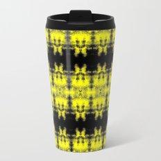 Yellow Black Diamond Gothic Pattern Travel Mug