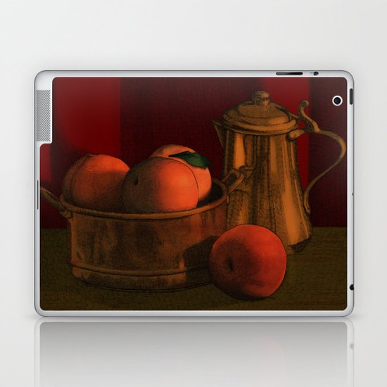 Still life with peaches Laptop & iPad Skin
