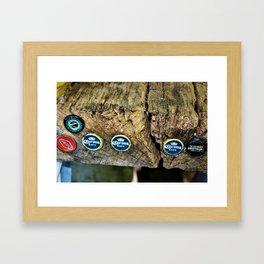 Bottlecaps Framed Art Print