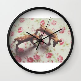 two dear Wall Clock