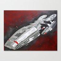 battlestar Canvas Prints featuring Battlestar by Randy Cross