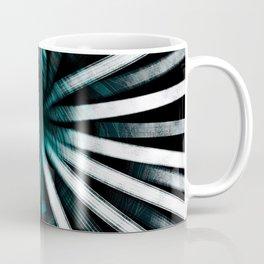 Circular Lines-Aqua Coffee Mug