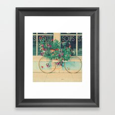 Summer Bicycle Framed Art Print