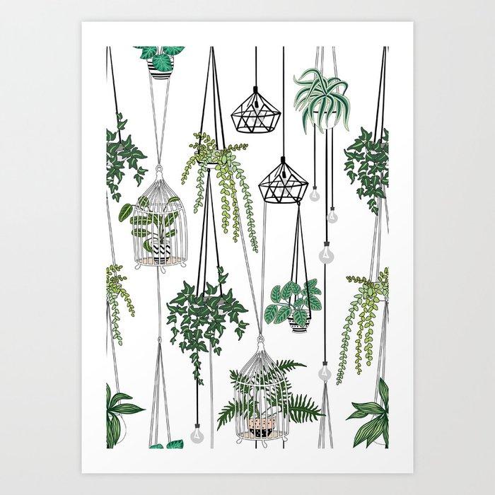 hanging pots pattern Art Print