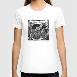 Luddy Mussy/ bull goose looney album cover black and white T-shirt